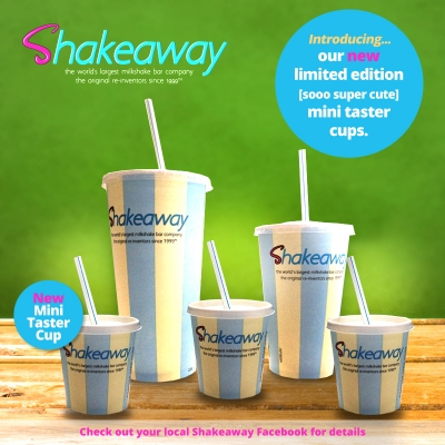 Shakeaway worldwide launches the world's first mini Shakeaway taster cup.