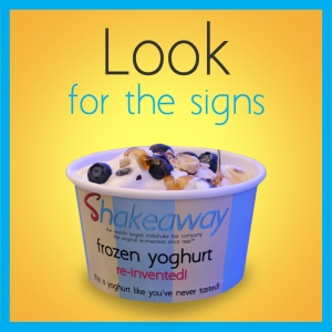 Look for the signs! - We Sell Frozen Yoghurt